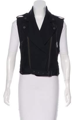 Karl Lagerfeld by Mesh-Trimmed Moto Vest