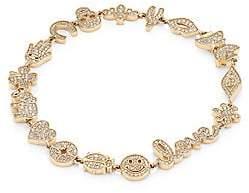 Sydney Evan Women's Small Diamond & 14K Yellow Gold Anniversary Charm Bracelet