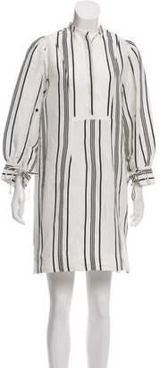 Apiece Apart Linen Mini Shirt Dress