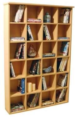 Pigeon WATSONS Watsons Hole - Cd Dvd Blu-Ray Media Storage Shelves - Beech