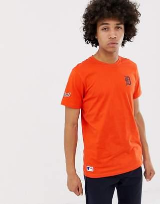 New Era MLB Detroit Tigers T-Shirt With Small Logo In Orange