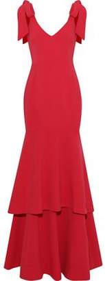 Rebecca Vallance Domingo Tiered Bow-Detailed Crepe Gown