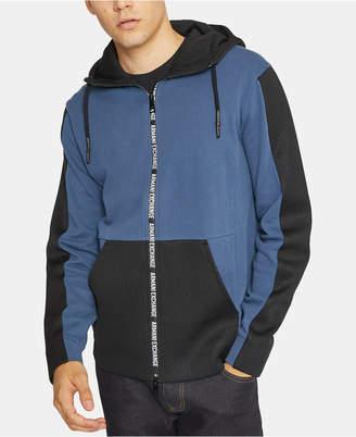 Armani Exchange Men Zip-Front Hooded Sweatshirt