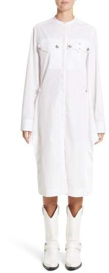 CALVIN KLEIN 205W39NYC Pinstripe Cotton Poplin Dress