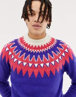Asos Design DESIGN fairisle jumper in purple