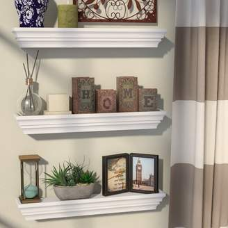 Alcott Hill Contoured Floating Shelf