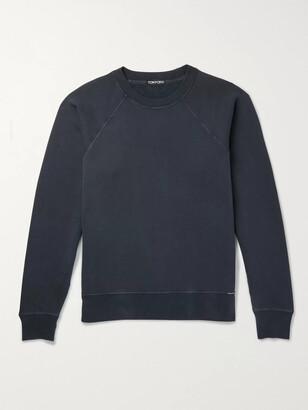 Tom Ford Loopback Cotton-Blend Jersey Sweatshirt - Men - Black