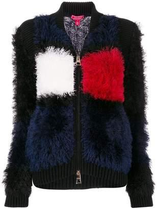 Tommy Hilfiger textured colourblock bomber jacket