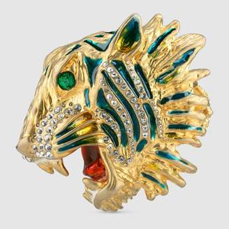 Gucci Tiger head multi-finger ring
