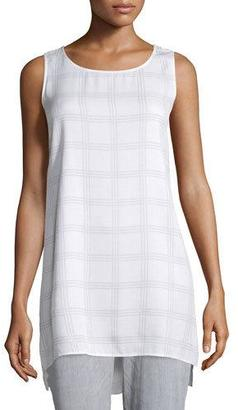 Eileen Fisher Sleeveless Plaid Tunic, Petite $278 thestylecure.com