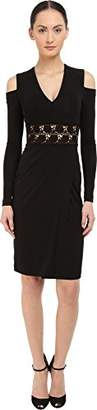 Yigal Azrouel Women's Cold Shoulder Long Sleeve V-Neck Dress