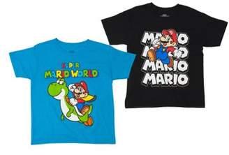 Nintendo Super Mario Boys' Assorted Two Pack Short Sleeve T-Shirt Bundle