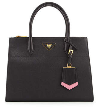 Prada Saffiano Greca Medium Double-Zip Galleria Tote Bag $2,710 thestylecure.com