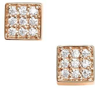 Women's Ginette Ny Mini Diamond Ever Stud Earrings $835 thestylecure.com