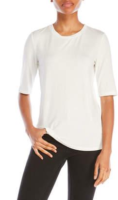 pink tartan Half Sleeve Crew Neck Tee $95 thestylecure.com
