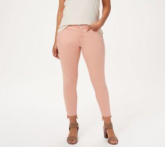 Lisa Rinna Collection Color Denim Skinny Step Hem Jeans
