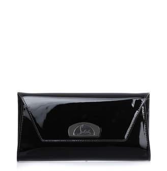 Christian Louboutin Vero Dodat black patent leather clutch