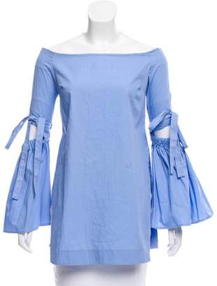 Ellery Off-The-Shoulder Long Sleeve Top
