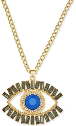 "Thalia Sodi Gold-Tone Stone & Crystal Evil-Eye 16"" Pendant Necklace"