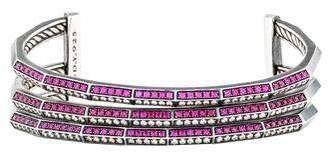 David Yurman Ruby & Diamond Stax Three-Row Bracelet