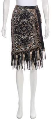 Fuzzi Printed Knee-Length Skirt w/ Tags