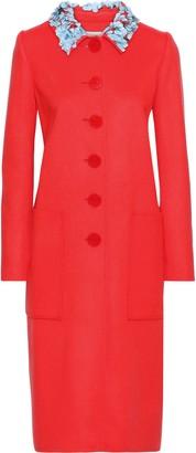 Carolina Herrera Embellished Wool Coat