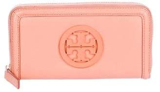 Tory Burch Logo Grained Leather Continental Wallet