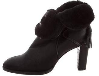 Chanel Shearling CC Booties