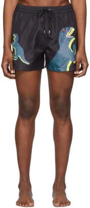Paul Smith Black Dino Classic Swim Shorts