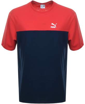 Puma Retro T Shirt In Navy