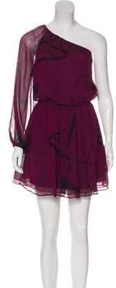 Alice + Olivia Printed Silk Dress