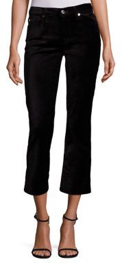 7 For All Mankind Velvet Cropped Flared Jeans $179 thestylecure.com