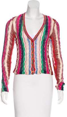 Missoni Open Knit Button-Up Cardigan
