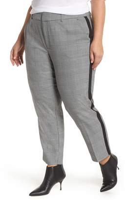 Rachel Roy Collection RACHEL Side Stripe Plaid Pants
