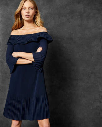 Ted Baker FRANEIS Pleated Bardot dress