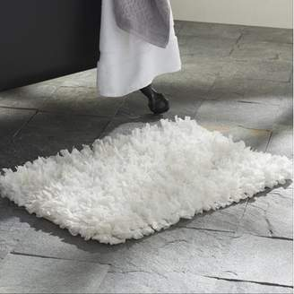 Carnation Home Fashions Paper Shag Cotton / Poly Blend Bath Mat, White