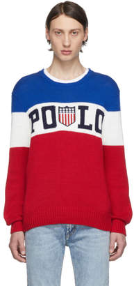 Polo Ralph Lauren Blue and Red Striped Sweater