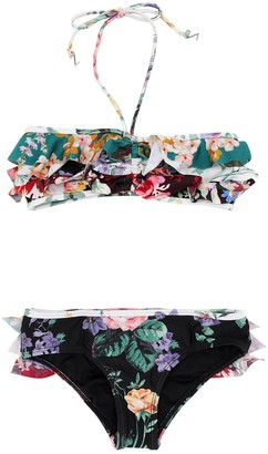 Zimmermann Allia Printed Lycra Bikini