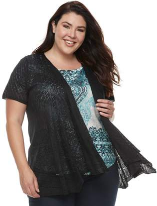 Fly London Plus Size World Unity Lace Away Top