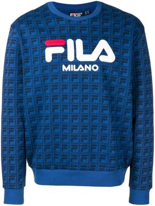 Fila logo crew neck sweatshirt