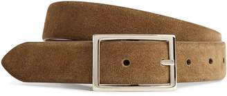 Reiss TIMOTHY REVERSIBLE SUEDE BELT Taupe/tan