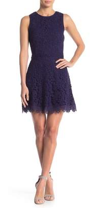 J.o.a. Floral Lace Open Back Dress