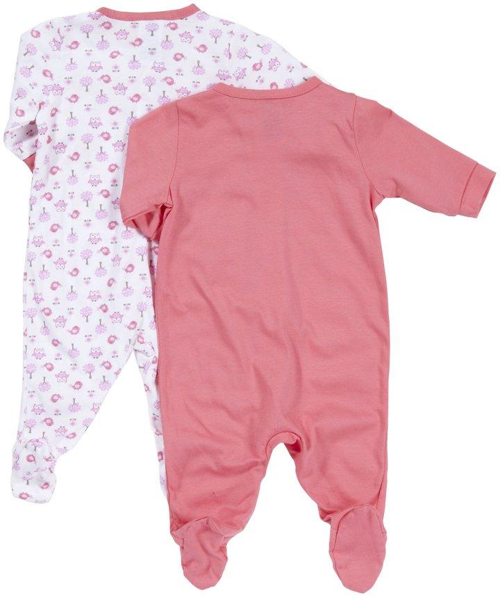 Gerber 2 Pack Sleep N Play Zip Front (Baby) - Pink-6-9 Months
