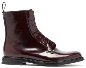 Church's Alexandra Patent Leather Boots - Womens - Burgundy
