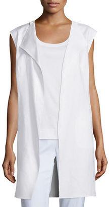 Lafayette 148 New York Celeste Linen Vest $398 thestylecure.com
