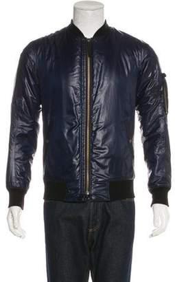 Helmut Lang Woven Bomber Jacket