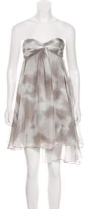 Halston Strapless Mini Dress w/ Tags
