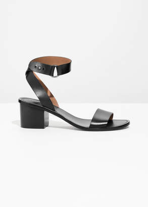 And other stories Cross Ankle Strap Heeled Sandals