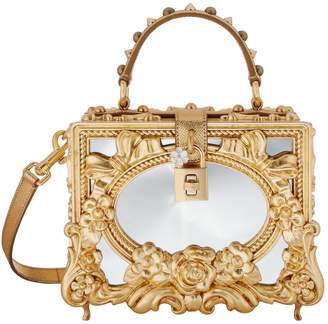 Dolce & Gabbana Mirror Embellished Top Handle Bag