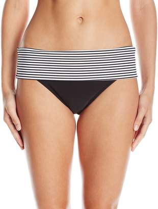 Panache Women's Anya Stripe Folded Bikini Bottom